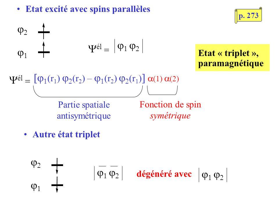 [j(r1) j2(r2) – j(r2) j2(r1)] a(1) a(2) Yél =